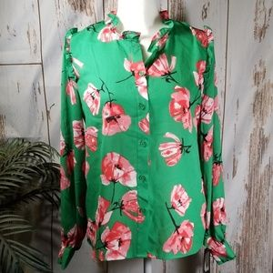 Who What Wear Modern Tulip blouse